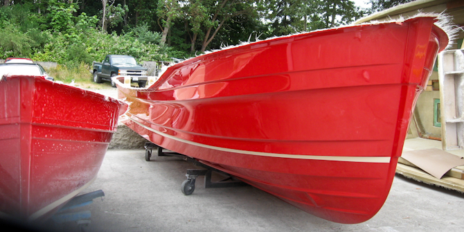 Ranger Tugs Factory Red Hull