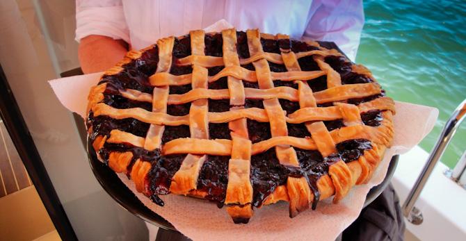 Island Blackberry Pie For Lunch With Friends On Lopez Island, San Juan Island, Washington