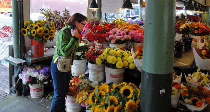 Lisa Pike Place Market Flowers, Seattle Washington