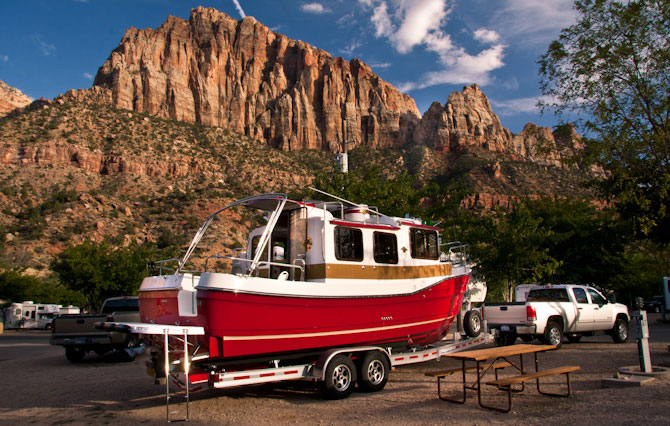 Trailerable Trawler – Zion National Park