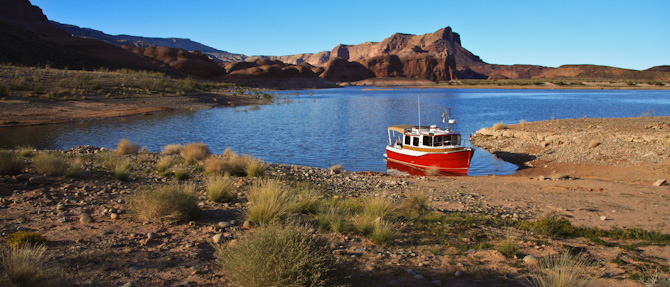 Kismet Beach Anchored, Oak Bay, Lake Powell