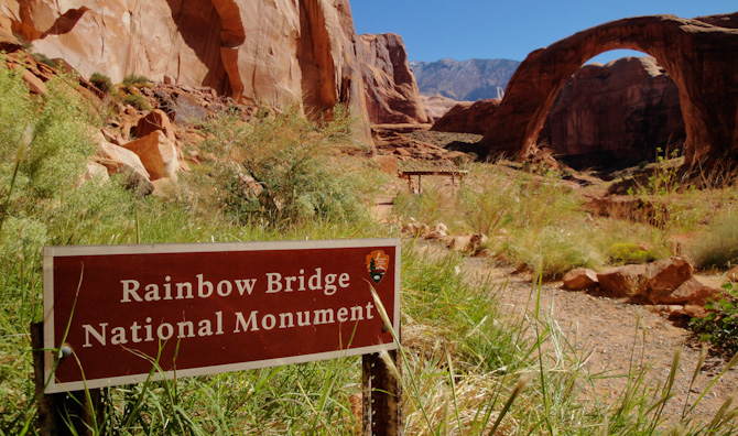 Sign At Rainbow Bridge, Lake Powell