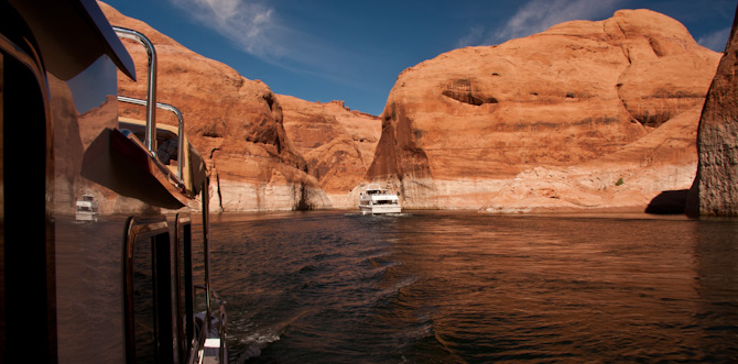 Kismet Cruising To Rainbow Bridge, Lake Powell