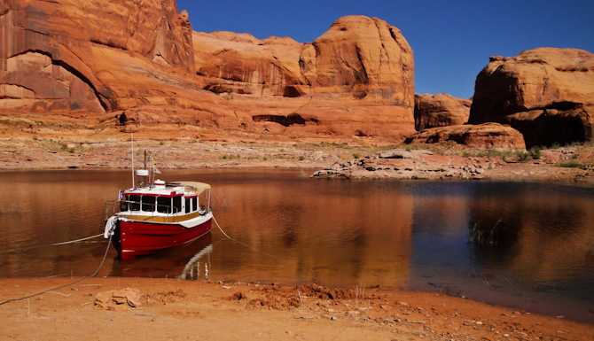 At Anchor in Cottonwood Canyon, Lake Powell, Utah