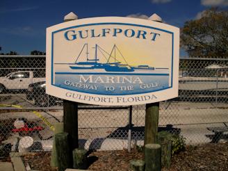 Gulfport Marina sign
