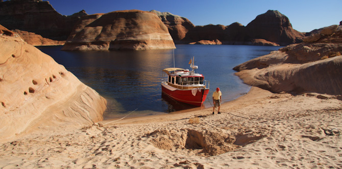 Kismet At Anchor In Padre Bay Lake Powell