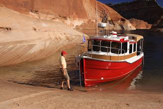 Kismet at anchor in Padre Bay Canyon
