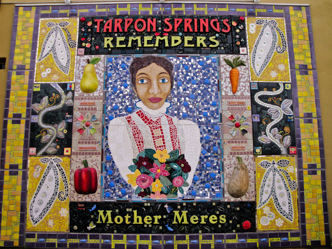 Mother Meres Artwork, Tarpon Springs, Florida