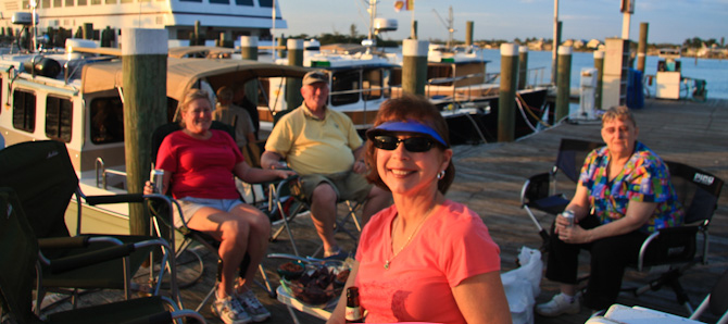 Happy Hour On Dock, Fort Myers Beach