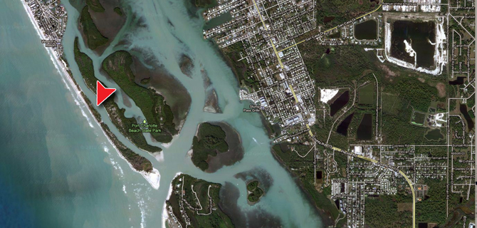 englewoodmap Anchoring in Port Charlotte Beach State Park Near Englewood on Lemon Bay, Florida
