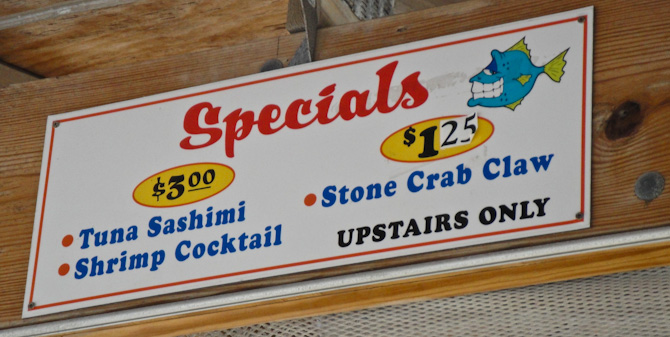 KeysFisheries 14 Happy Hour Special – Stone Crabs at Keys Fisheries