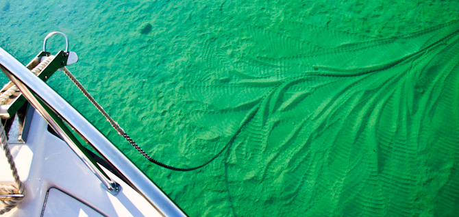 Kismet Anchored, Torch Lake, Michigan