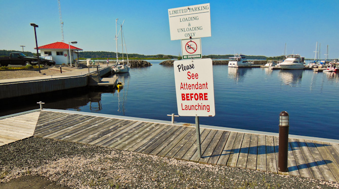 Marina Sign, Spanish, North Channel, Canada
