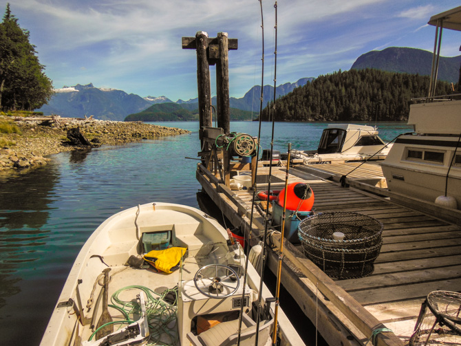 Boats At Dock, Toba Wildernest, Desolation Sound