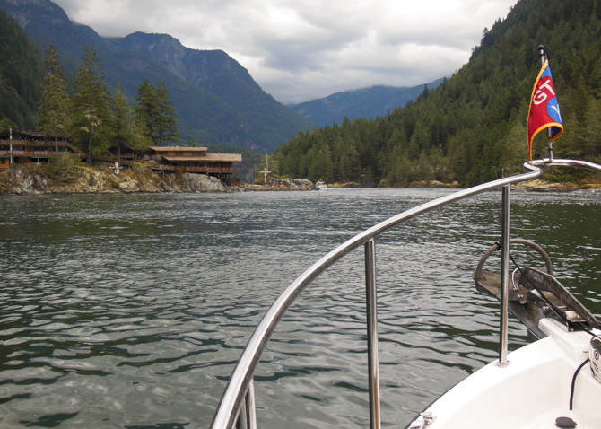 Transiting Malibu Rapids To Gain Access To Princess Louisa Inlet And Chatterbox Falls
