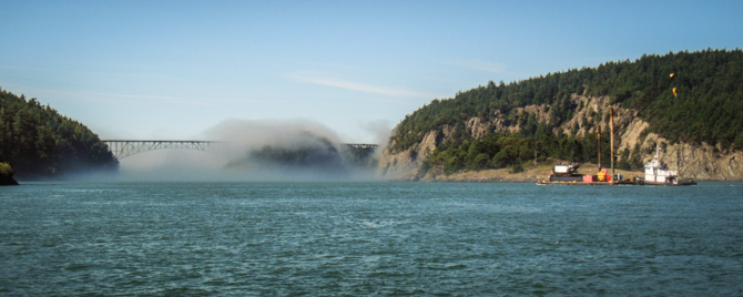 Deception Pass 4 Transiting Desolation Pass in a Pocket of Fog