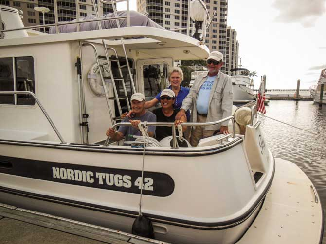 Crew On True North, Fort Myers, Florida