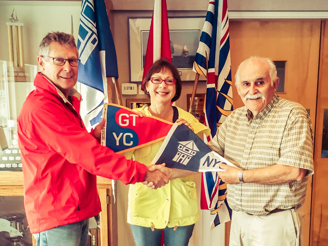 Burgee Exchange – Nanaimo Yacht Club, BC