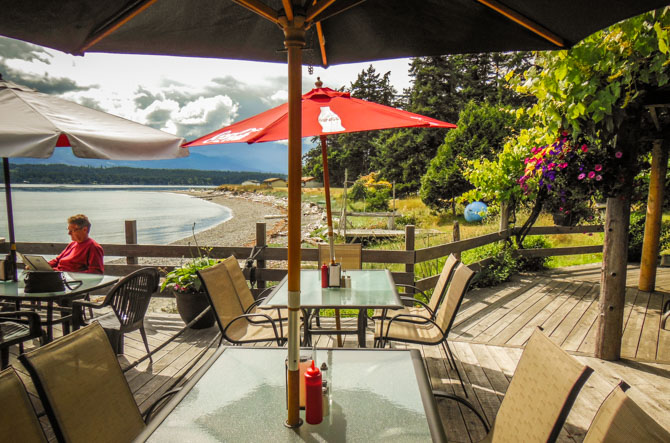 Hornby Island Anchor, Tribune Bay – After Dinner At The Thatch Pub