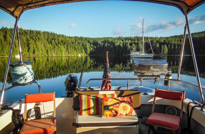 Anchoring In Von Donop Inlet – Ha'thayim Marine Provincial Park