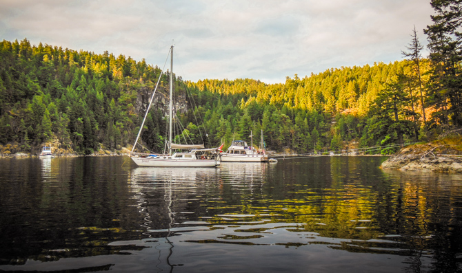 Tenedos Bay To Anchor For Hike To Unwin Lake