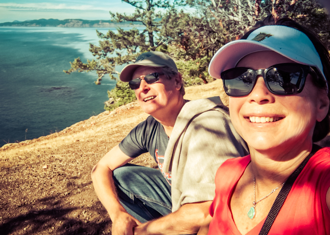 Lover's Leap With My Lover – Stuart Island, Washington