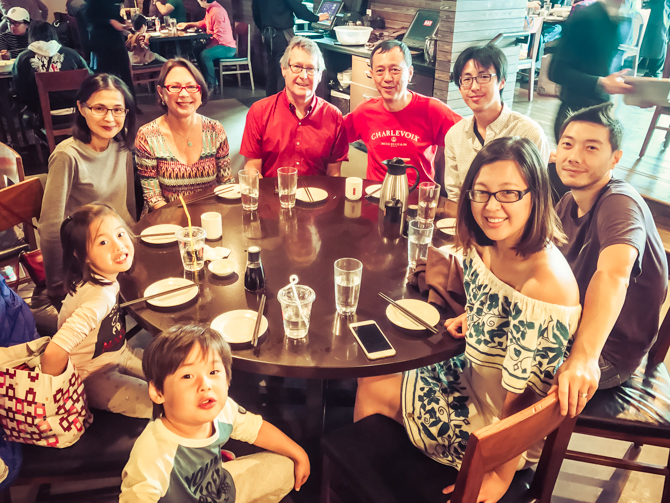 Lunch with Huang Family